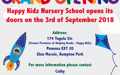 New Nursery School in Kempton Park – Grand Opening 03 September 2018