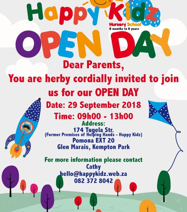 Open Day – 29 September 2018 – 09h00 to 13h00